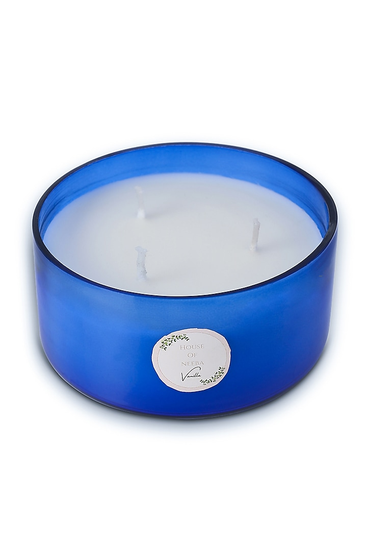 Blue Soy Wax & Essential Oil Candle Jar by HOUSE OF NEEBA