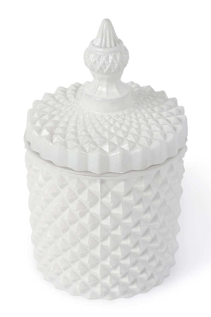 White Soy Wax & Essential Oil Candle Jar With Lid by HOUSE OF NEEBA