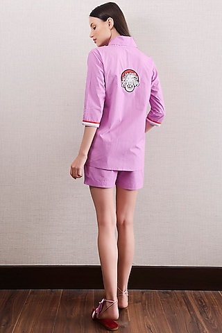 Purple Shorts With Top by Nochee Vida