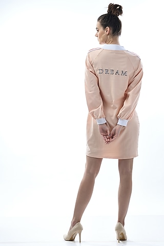Rose Gold Embroidered Shirt Dress by Nochee Vida