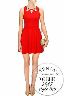 Red Skater Dress by Neha Taneja