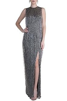 Black Tassel Gown by Neeta Lulla