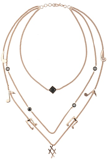 Rose Gold Finish Layered Necklace by Nepra By Neha Goel