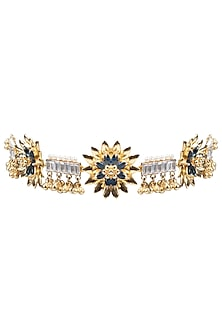 Gold Plated Floral Choker Necklace by Nepra By Neha Goel