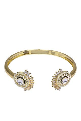 Gold Finish Meenakari Work Choker Necklace by Nepra By Neha Goel