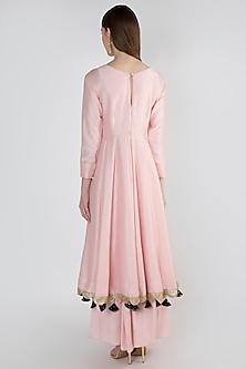 Blush Pink Embroidred Anarkali Set by Ranian