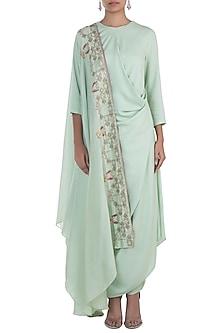 Spring green embroidered kurta set by NEHA & TARUN