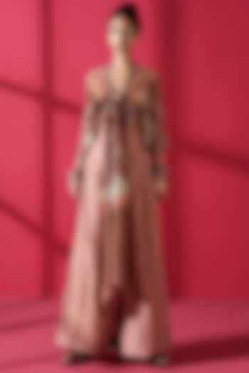 Terracotta Red Pant Set by Nikita Mhaisalkar