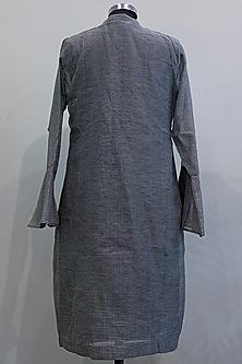 Black & White Gingham Printed Dress by Nikita Mhaisalkar