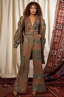 Multi Coloured Printed Jumpsuit by Nikita Mhaisalkar-NIKITA MHAISALKAR