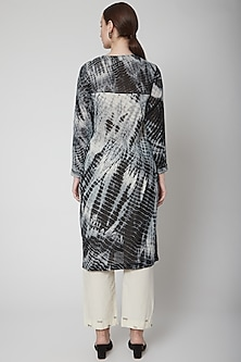 Black Shibori Printed Kurta With Pants by Nineteen89 by Divya Bagri