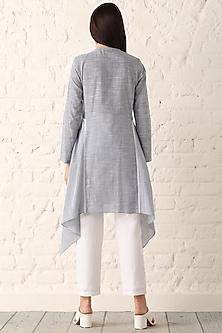 Blue Striped Asymmetric Tunic by Namrata Joshipura