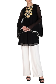 Black Embroidered Tunic by Namrata Joshipura