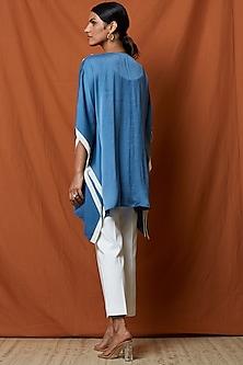 Marlin Blue Embellished Top by Namrata Joshipura