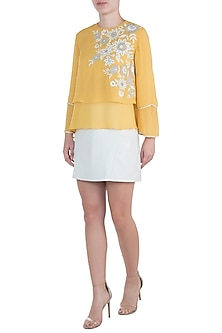 Yellow Marigold Top by Namrata Joshipura