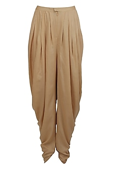 Sand colour dhoti pants by Namrata Joshipura