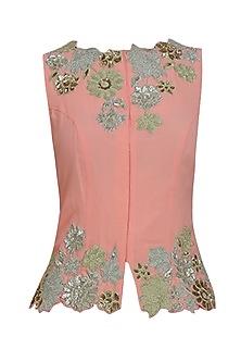 Tropicana trellis cutwork blouse by Namrata Joshipura