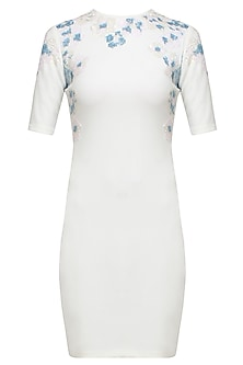 White insta flower neo dress by Namrata Joshipura