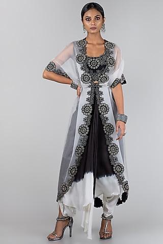 Black & White Jacket Set by Nupur Kanoi