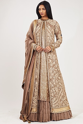 Mouse Embroidered Skirt Set by Nakul Sen