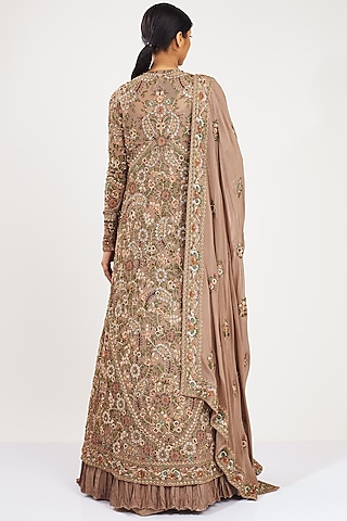 Mouse Thread Embroidered Skirt Set by Nakul Sen