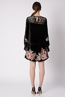Black Embroidered & Printed Dress by Nikasha