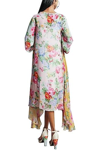 Soft Pink Printed Tunic Dress by Nikasha