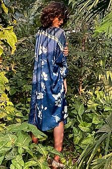 Indigo Blue Printed Dress by Nida Mahmood