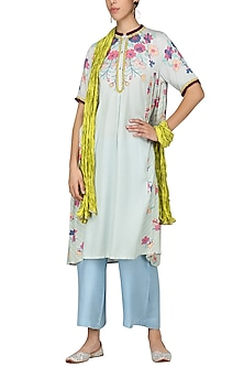 Light Blue Embroidered Tunic by Nida Mahmood