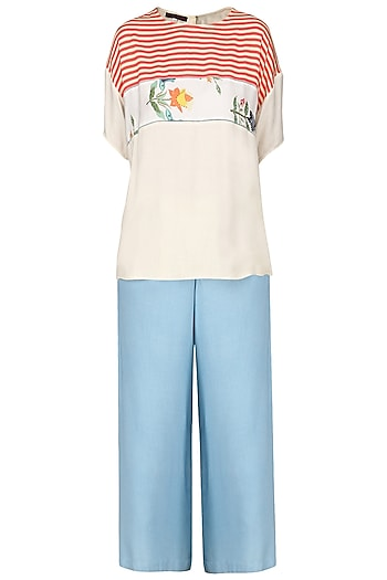 Light Blue Pants by Nida Mahmood