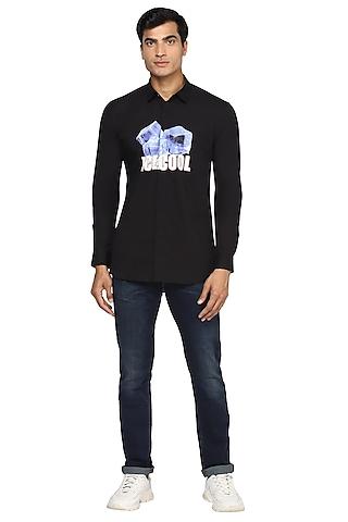Black Printed Shirt by NOONOO