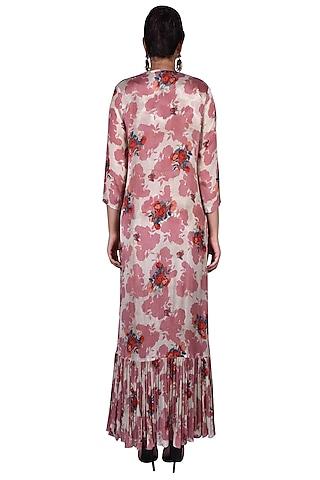Blush Pink & Ivory Printed Pant Set by Nautanky By Nilesh Parashar