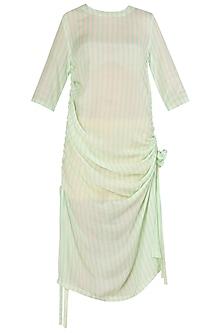 Cotton Silk Pull Up Dress by Nautanky By Nilesh Parashar