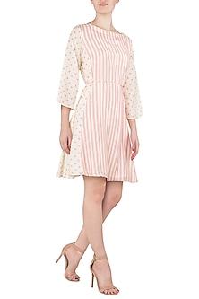 A Cotton Silk Side Panel Breez Dress by Nautanky By Nilesh Parashar
