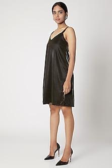Gold Metallic Slip Dress by Nori