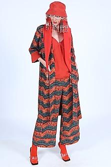 Orange Top With Straps by Nirmooha-NIRMOOHA