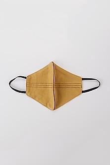 Ochre Yellow Mask With Maroon Stripes by Nirmooha