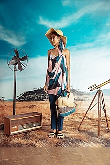 Multi Colored Printed Dress With Pants by Nirmooha