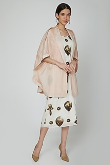 Nude Jacket With Printed Tunic by N&S Gaia