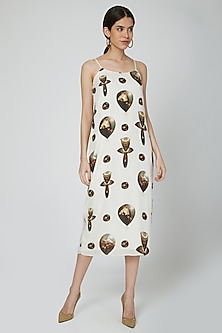 White Graphic Printed Tunic by N&S Gaia