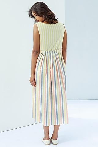 Multi Coloured Cotton Dress by Nesolo
