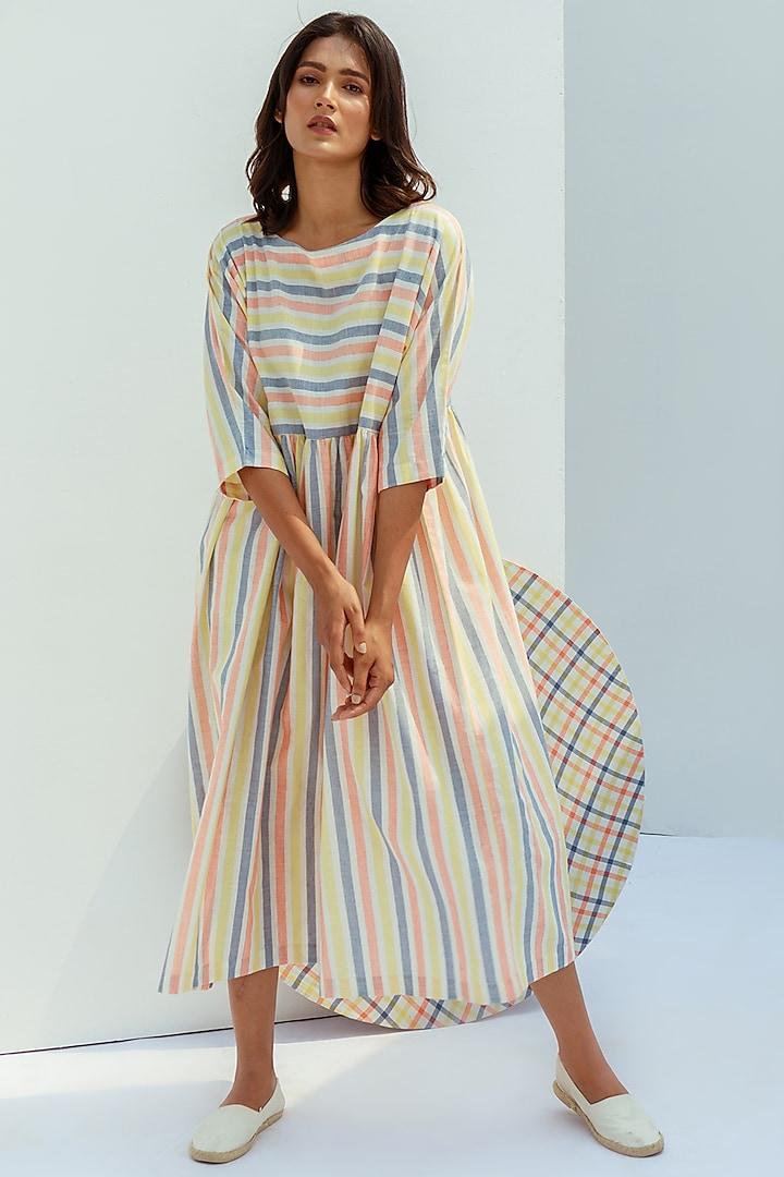 Multi Colour Cotton Dress by Nesolo