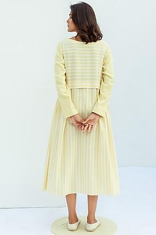 Vanilla Khadi Cotton Dress by Nesolo
