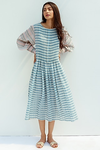 Blue Blush Dress With Slip by Nesolo