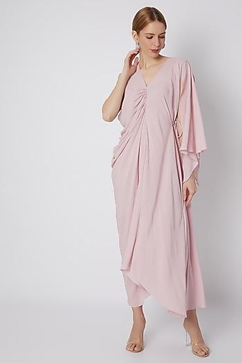 Blush Pink Viscose Rayon Dress by Naina Seth