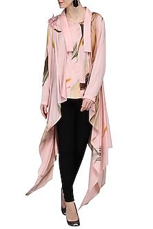 Pink Printed Jacket by N&S Gaia