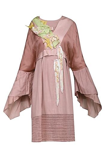 Pink Knee Length Dress by N&S Gaia