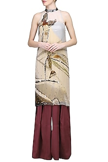 Multicolor Printed Tunic with Pants by N&S Gaia