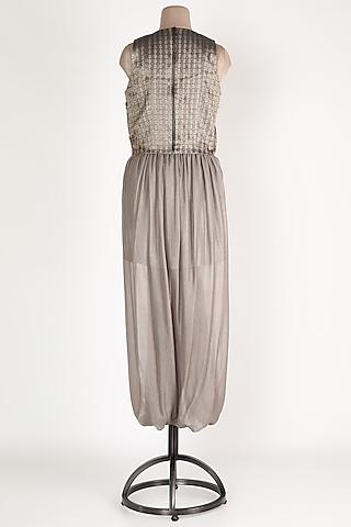 Brown Brocade Skirt Set by Nandita Thirani