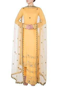 Mango High-Low Embroidered Kurta Set by Nikhil Thampi